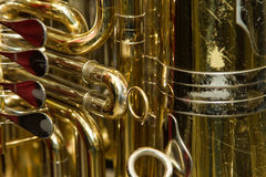 Tuba and Music Score Stock Images