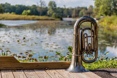 Tuba in the park Stock Photo