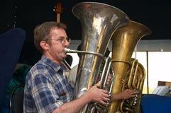 Tuba player Royalty Free Stock Photo