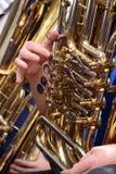 Tuba Player Stock Photo