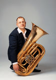 Tuba Player Royalty Free Stock Photography
