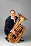 Tuba Player Stock Photography
