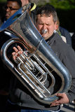 Tuba player Stock Photo