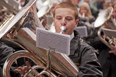 The Tuba Player Royalty Free Stock Images