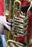 Tuba Player Royalty Free Stock Photography