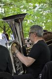 Tuba Player Royalty Free Stock Images