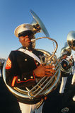 Tuba player for the United States Marine Corp Stock Images