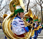 Tuba Players. During the 2012 Saint Patrick's Day Parade on 5th Avenue New York Stock Image