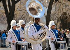 Tuba Players. During the 2012 Saint Patrick's Day Parade on 5th Avenue New York Royalty Free Stock Photography