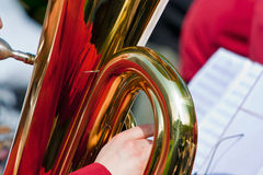 Tuba with reflection Royalty Free Stock Photos