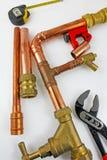 Tubagem de cobre nova pronta para a construção Imagens de Stock