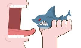 Tubarão antropófago Destruição do predador marinho Un do consumo Fotografia de Stock Royalty Free