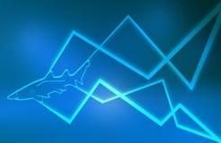 Tubarão azul, linhas abstratas Foto de Stock