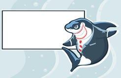 Tubarão com espaço da cópia. Vetor Imagem de Stock Royalty Free