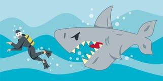 Tubarão com fome Fotos de Stock