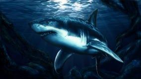 Tubarão de Paiting ilustração stock