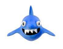 Tubarão de sorriso da argila isolado com trajeto de grampeamento Fotografia de Stock Royalty Free