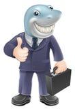 Tubarão do homem de negócio Imagem de Stock