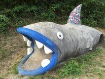 Tubarão enorme feito do concreto Fotos de Stock Royalty Free