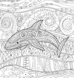 Tubarão feliz com detalhes altos Fotos de Stock Royalty Free