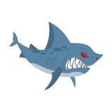 Tubarão irritado Predador marinho com grandes dentes As águas profundas denize Fotografia de Stock