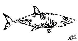 Tubarão tribal ilustração royalty free