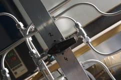 Tubatura dell'acciaio del laboratorio Fotografie Stock Libere da Diritti