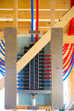 Tubatura molteplice del sistema PEX dell'impianto idraulico Immagini Stock