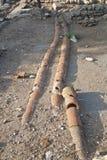 Tubature dell'acqua dell'argilla immagine stock