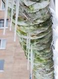 Tubature dell'acqua nell'inverno immagine stock