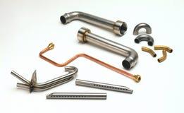 Tubazione a forma di del metallo fotografie stock