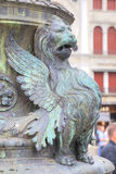 Tubby little monster. Figure of mythological animal at founding of an ancient column. City of Venice Stock Image