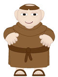 Tubby Monk in Brown Robes wearing sandles Royalty Free Stock Photo