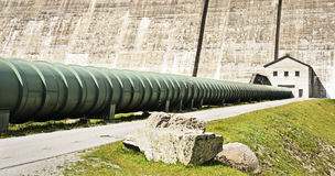 Tube. At the silvretta-reservoir in austria Stock Photography