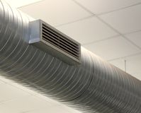 Tube for the air-conditioning of a large Office Royalty Free Stock Photography