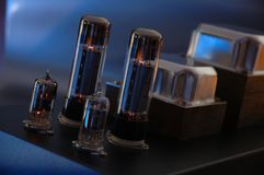 Tube amp. Hi-Fi tube auidophile amplifier Royalty Free Stock Image