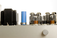 Tube Amp. Lifier isolated on white, close up Royalty Free Stock Photos