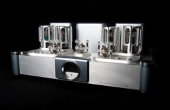Tube amplifier Stock Image