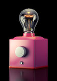 Tube amplifier. On black background. 3d rendering Stock Photos