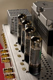 Tube amplifier closeup Stock Photos