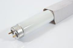 Tube au néon blanc Image libre de droits