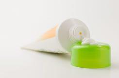 Tube avec de la crème Photo stock