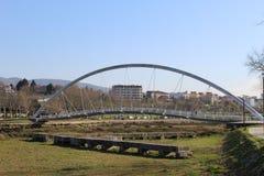 Tube bridge in Pontevedra stock images