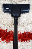 Tube and brush vacuum cleaner Royalty Free Stock Photo