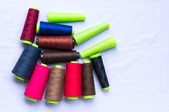 Tube coloré de fil Images libres de droits