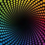 Tube coloré Dots Infinity de Spirale Photographie stock