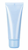 Tube crème de produits de beauté bleus Image stock