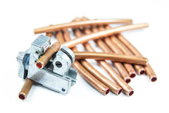 Tube Cutter. S and copper Pipe Stock Photo