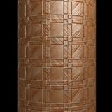 Tube cylinder metallic frame texture patchwork. Tube cylinder column metal plates squares patchwork texture / Ideal for background websites disegn / Black Stock Photography