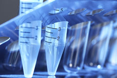 Tube d'essai en laboratoire. Image stock